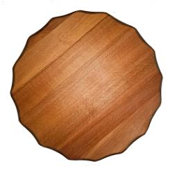 Deska okrogla lesena fi 50 cm