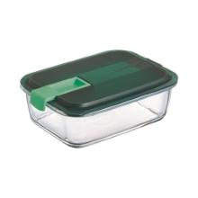 Easy box steklena doza pravokotna zelena 122 cl