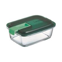Easy box steklena doza pravokotna zelena 82 cl