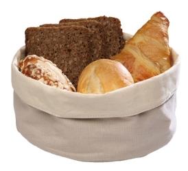 Košara za kruh bež / črna