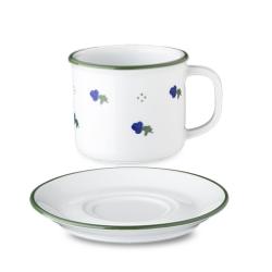 Lonček retro 18 cl modro cvetje