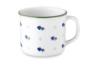 Lonček retro 35cl modro cvetje