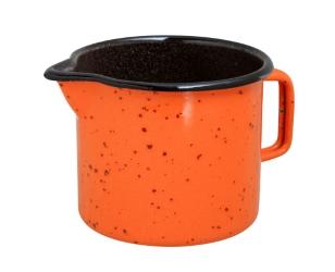 Lonček s kljunom 0,65 l oranžen s pikicami