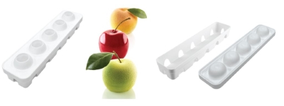 Mela ciliegia & pesca model silikon