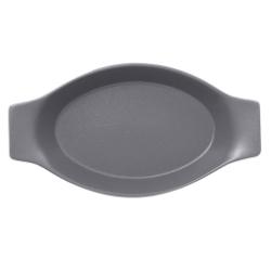 Nf pekač ovalni z ročaji 25 x 14 cm siv