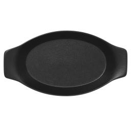 Nf pekač ovalni z ročaji 30 x 16 cm črn