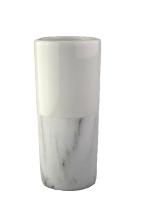 Vaza ker. marble bela 8,6x8,6x19,5 cm